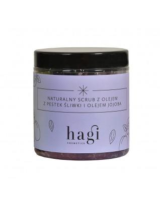 HAGI Naturalny scrub do ciała z olejem z pestek śliwki i olejek jojoba