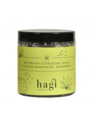 HAGI Naturalny scrub do ciała z olejem konopnym i makadamia