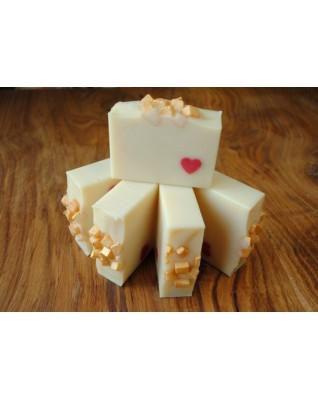 Naturalne mydło jedwabne - KOSTKA MYDŁA