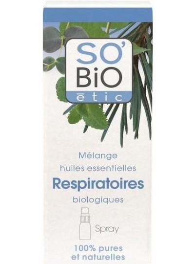SO'BIO etic Spray ułatwiający oddychanie - mieszanka bio olejków eterycznych