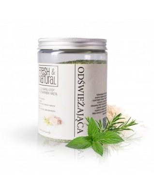Odświeżająca sól do kąpieli z rozmarynem i miętą 1000g Fresh&Natural