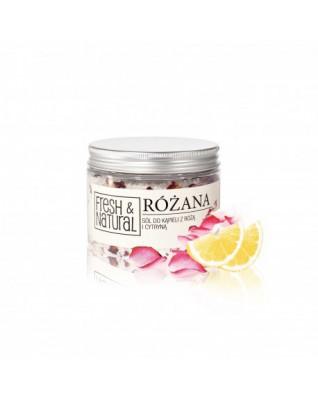 Różana sól do kąpieli z cytryną 500g Fresh&Natural