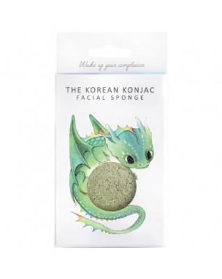 Gąbka Konjac Mityczny Smok z zieloną glinką i haczykiem do zawieszenia