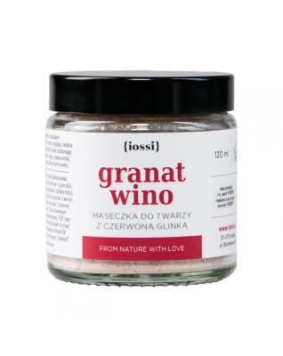 Granat i wino - maseczka do twarzy z czerwona glinką IOSSI
