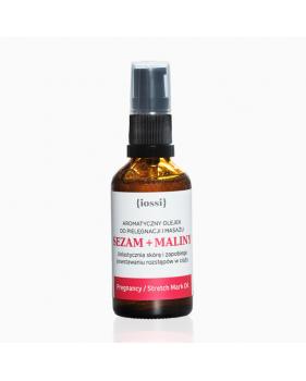 IOSSI - SEZAM I MALINY Aromatyczny olejek zapobiegający powstawaniu rozstępów