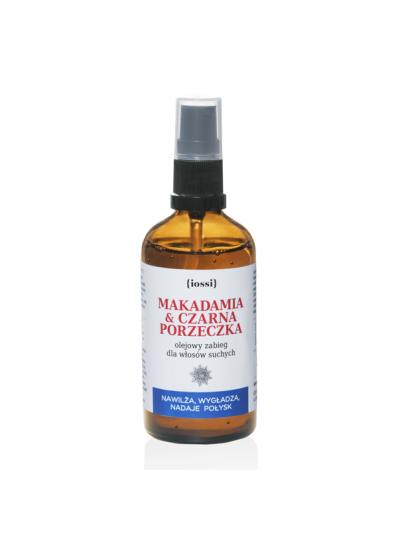 MAKADAMIA I CZARNA PORZECZKA olejowy zabieg dla włosów IOSSI