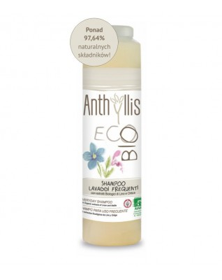 Anthyllis Eco Bio Szampon do częstego mycia włosów 250 ml z wyciągiem z Lnu i Pokrzywy z ekologicznych upraw.