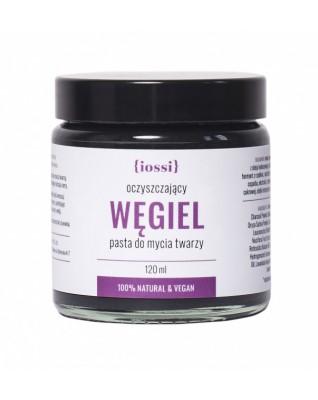 Pasta oczyszczająca WĘGIEL - IOSSI- delikatnie oczyszcza, myje i nawilża twarz.