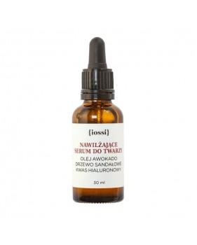 Nawilżające serum do twarzy z olejem z awokado, olejem z drzewa sandałowego i kwasem hialuronowym