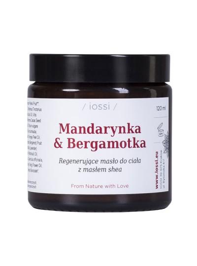 IOSSI - MANDARYNKA I BERGAMOTKA regenerujące masło do ciała z olejem krokoszowymi masłem shea
