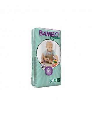 Pieluszki ekologiczne jednorazowe (4) BAMBO NATURE MAXI (7-18 KG) 60 SZT