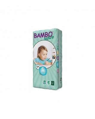 Pieluszki ekologiczne jednorazowe BAMBO NATURE JUNIOR (5) (12-22 KG) 54 SZT