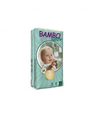 Pieluszki ekologiczne jednorazowe (3) BAMBO NATURE MIDI (5-9 KG) 66 SZT