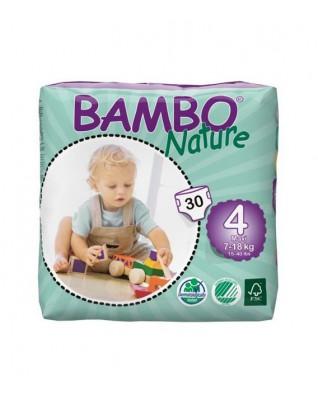 Pieluszki ekologiczne jednorazowe (4) BAMBO NATURE MAXI (7-18 KG) 30 SZT