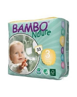 Pieluszki ekologiczne jednorazowe (3) BAMBO NATURE MIDI (5-9 KG) 33 SZT