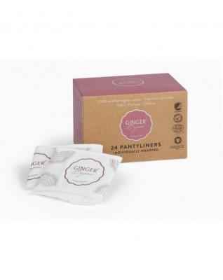 Wkładki higieniczne certyfikowane, 100% organic, bawełna organiczna, bez chloru, 24 szt.