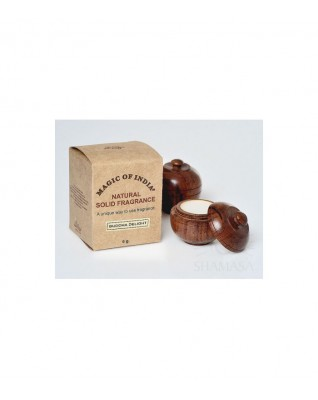Naturalne perfumy w kremie BUDDHA DELIGHT, trwały zapach, kwiatowo-owocowy, w ręcznie robionym pudełeczku, 6g, Shamasa