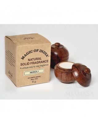 Naturalne perfumy w kremie NEROLI trwały zapach, kwiat gorzkiej pomarańczy, w ręcznie robionym pudełeczku, 6g, Shamasa