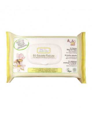 Chusteczki nawilżane 4w1 z rumiankiem i nagietkiem, 60 szt., Baby Anthyllis