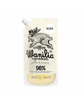 Wanilia i cynamon Mydło do rąk Refill 500ml YOPE