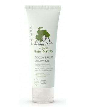 MADARA ORGANIC BABY & KIDS kremowa oliwka dla dzieci COCOA & PLUM