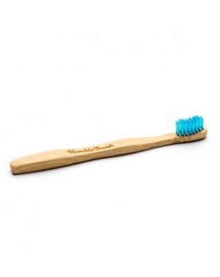 Humble Brush, Bambusowa szczoteczka do zębów dla dzieci, UltraSoft, niebieska