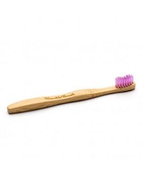 Humble Brush, Bambusowa szczoteczka do zębów dla dzieci, UltraSoft, różowa
