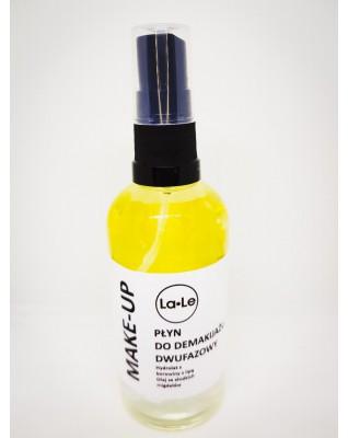 Płyn do demakijażu dwufazowy - Hydrolat borowina z lipą i olej ze słodkich migdałów 100ml La-Le