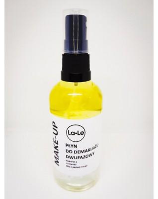 Płyn do demakijażu dwufazowy - Hydrolat z czarnej porzeczki i olej lniany