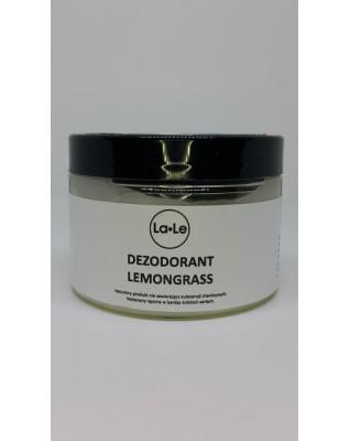 Dezodorant ekologiczny w kremie trawa cytrynowa 120 ml w szkle La-Le