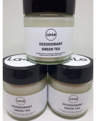 Dezodorant ekologiczny w kremie z olejkiem Green Tea opakowanie szklane 120ml
