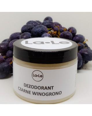 Dezodorant ekologiczny w kremie czarne winogrono 150 ml w plastikowym opakowaniu La-Le