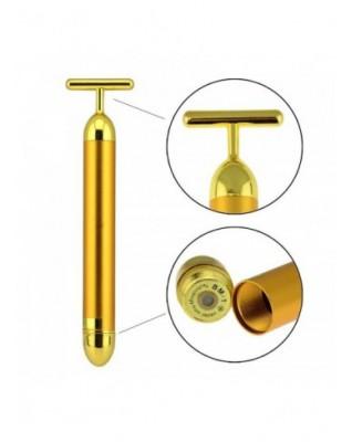 Masażer pulsacyjny z głowicą wzbogaconą 24 karatowym złotem Natural Secrets