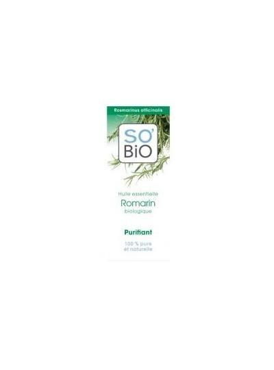 SO'BIO etic BIO olejek eteryczny ROZMARYN - oczyszczający i ułatwiający oddychanie