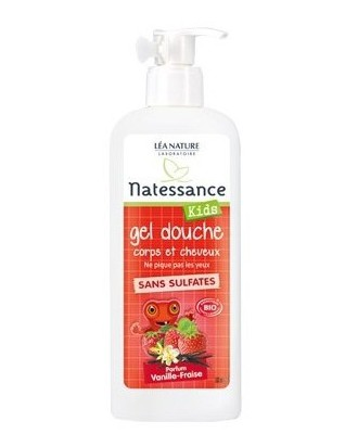 NATESSANCE KIDS delikatny żel 2w1do mycia ciała i włosów dla dzieci od lat 3 VANILIA i TRUSKAWKA