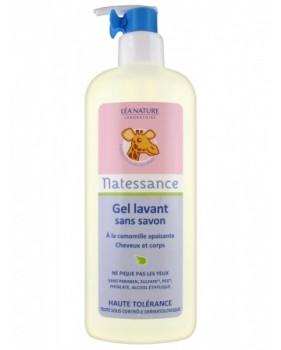 NATESSANCE BABY delikatny żel do mycia włosów i ciała dla niemowląt i dzieci
