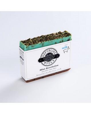 REPUBLIKA MYDŁA Mint Revolution mydło hand made mięta - czekolada