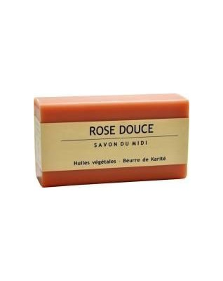 SAVON DU MIDI Mydło naturalne, roślinne z masłem shea ROSE DOUCE